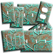 Old Rusted Worn Out Copper Green Bronze Patina Look Light Switch Plate Outlet Hd