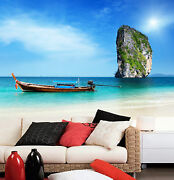 3d Floating Boat 776 Wall Paper Wall Print Decal Wall Deco Indoor Wall