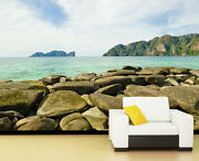 3d Stone River Beach 433 Wall Paper Wall Print Decal Wall Deco Indoor Wall