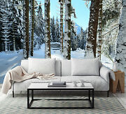 3d Covered Snow Trunk 56 Wall Paper Wall Print Decal Wall Deco Indoor Wall