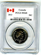 2013 Canada 50 Cent Half Dollar Pcgs Ms68... Super Rare...top Population Only 5