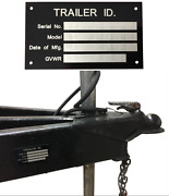 Aluminum Trailer Id Tag Vin Plate Serial Gvwr Medical Blank New Free Shipping
