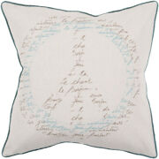 Surya Ivory French Country Peace Typography Words Area Rug Pictorial Js050