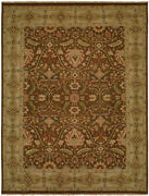 Kalaty Red Floral Vines Leaves Traditional-european Area Rug Bordered Cb-887