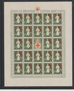 Croatiawwii Red Cross Great Error Red Star On Cap Partisan Sheetmnh