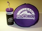 Colorado Rockies Vintage Mlb Water Bottle And Seat Cushion Sports Bag Tote Lot