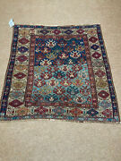 Antique Gorgeous Collectible Caucasian Kuba Shieeld Kazak 3and0396x3and0397 Ft Cr 1840