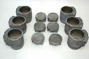 Porsche 930 Turbo Engine Pistons Cylinders 3.3 93010396903 97mm Mahle
