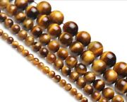 Natural 6/8/10/12/14mm Yellow Tigerand039s Eye Gemstone Round Loose Spacer Beads 15and039and039