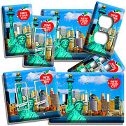 Nyc New York City Statue Of Liberty Light Switch Outles Wall Plate Office Decor
