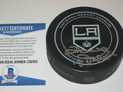 Dave Taylor Signed Official L.a. Kings Game Puck W/ Beckett Coa