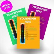 5000 Promotional Thermometer Cards - Customised Using Your Design