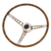 Steering Wheel Assembly 65-66 Mustang [woodgrain] [with Cap Assembly]