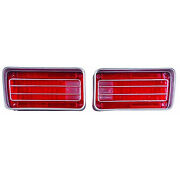 Tail Lamp Lenses Pair 70 Malibu/ss [except Wagon] [with Chrome Accents]