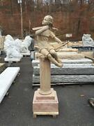 Hand Carved Marble Indoor Or Outdoor Figural Statue - Jd94