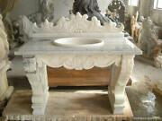 Beautiful Carved Marble Victorian Style Sink Ly7