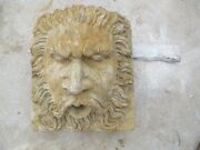 Great Hand Carved Stone Fountain Heads Sh1