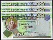 New 2013 Bank Of Ireland Belfast Banknotes Andpound20 Real Local Paper Currency