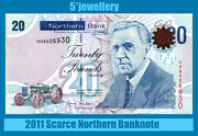 Northern Bank Ltd Belfast Andpound20 Banknote Real Money Vf To Unc 2005 2006 2009 2011
