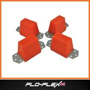 Land Rover Td5 Suspension Bushes Steel Plated Ext Bump Stops In Poly Flo-flex