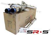 Srs Stainless Catback Exhaust For 00 01 02 Nissan Maxima 2000 2003 Dual Blue Tip