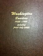 Washington Quarter Set 1932 To 1998 With Proofs. Mostly Xf Or Better, Complete