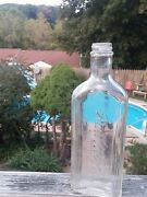 Vtg Rawleighand039s Clear Glass Medicine Bottle Trademark Made In The Usa 9inch