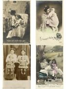 Glamour Ladies Mothers With Children, Child 191 Vintage Real Photo Postcards