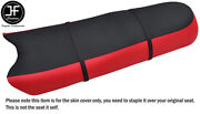 Black And Bright Red Vinyl Custom Fits Tigershark 770 640 3 Seater Seat Cover