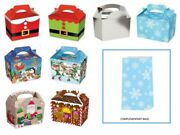 Christmas Table Present Gift Boxes / Party Food Boxes Plus Free Snowflake Bags