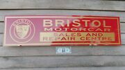 Early Bristol Classic Motorcar Dealer/service/advertising Sign/garage Art 1and039x46