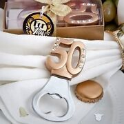 75 Gold 50th Themed Design Bottle Opener Anniversary Birthday Party Favors