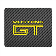 Ford Mustang Gt In Yellow Black Carbon Fiber Texture Graphic Pc Mouse Pad