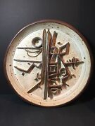 Gerry Williams Pottery Wall Hanging Sculpture Mid Century Modern Brutalist 3D