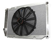 Fit 16 Fans Fits For 71-73 Ford Mustang V8 Mt Aluminum Racing 3 Row Radiator