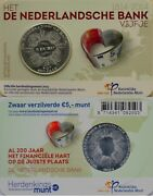 Netherlands 5 Euro 2014 Unc 200th Anniversary Of The Netherlands Bank Incoincard