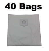 40 Type Q Bags For Kenmore Vacuum 5055, 50558, 50557 Hepa Cloth Canister 433934