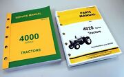 Service Manual For John Deere 4020 Tractor Technical Parts Catalog Under 201000