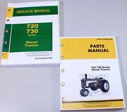 Service Manual Set For John Deere 720 730 Diesel Tractor Parts Catalog Technical