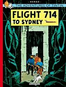 Flight 714 To Sydney The Adventures Of Tintin By Hergé Paperback Book The Fast