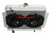 Fit 66-69 International Scout V8 Mt 3 Row Performance Radiator+12 Fans