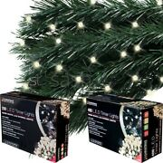 Christmas 200/400 Warm White Led String Xmas Chaser Lights Party Garden W Timer