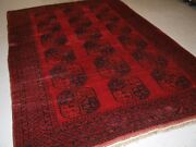 Old Traditional Red Afghan Village Carpet Perfect Condition Circa 1920.