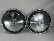 Vintage Ford Hubcaps 15 1976-89 F100-f350 Chrome Ring Hot Rod Rat Rod Lot Of 2