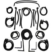 1966-1967 Lincoln Continental Convertible Roof Rail Weatherstrip Kit