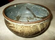 "Beautiful vintage Studio Pottery serving BOWL 5 inches tall, 7 1/2"" opening dia."