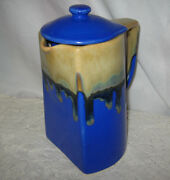 Modern Hand Painted Pottery Coffee Pot Unique Shape Signed Paslille