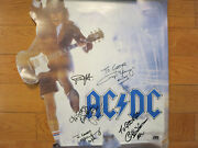 Ac/dc Signed Poster By All 5 Coa Angus Young Brian Johnson Cliff Williams Autos