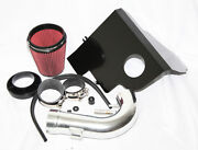 Fit 11-14 Ford Mustang Gt/boss 5.0l V8 3.5 Red Cold Air Intake Kit+heat Shield