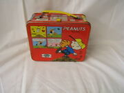 Vintage King-seeley Peanuts Metal Lunch Box With Rare Snoopy Thermos